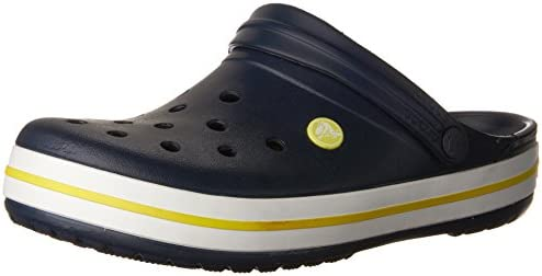 6d6ef550157c16 crocs Unisex s Crocband Navy or Citrus Clogs-M6W8 (11016)  Buy Online at  Low Prices in India - Amazon.in