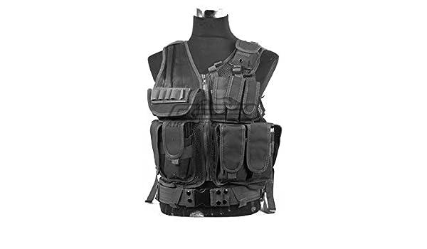 Amazon.com   DEFCON 600 Denier Tactical Crossdraw Vest (Black)   Sports    Outdoors 8b96658c65e