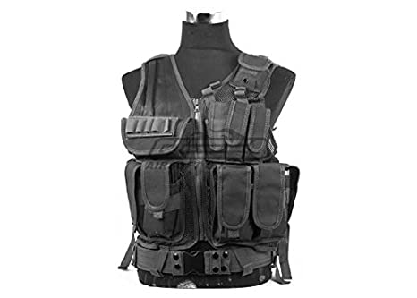 Amazon.com   DEFCON 600 Denier Tactical Crossdraw Vest (Black ... 042f32aa6f5