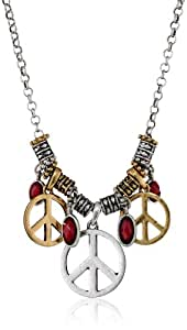 """Lucky Brand Peace Charm Necklace, 32""""+2""""Extender"""