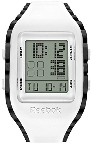 Reebok Watch Rf-wz1-g9-pwiw-bb Workout - Z1g. Grey/ Black Digits Dial. Silicone Reebok Bb