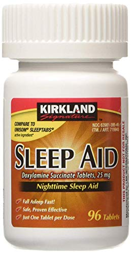 Kirkland Signature Fikil Sleep Aid Doxylamine Succinate 25 Mg X 6 Bottles 96 Tablets Each