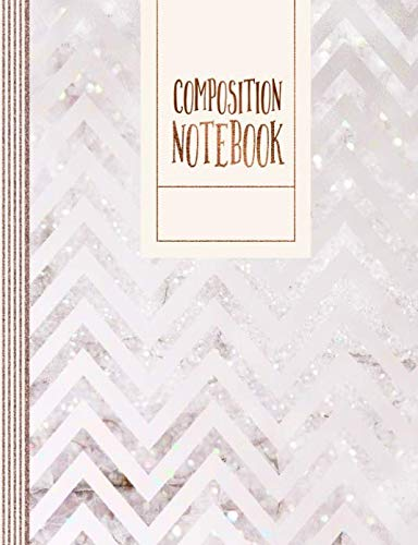 Composition Notebook: Chevron Journal For Girls Women - Large School College Ruled Lined Writing And Journaling Paper Book Diary - Abstract Blush Rose Gold Pink Pastel Pattern