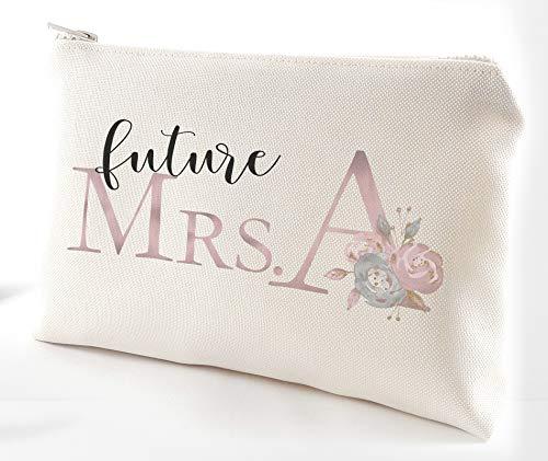 (Future Mrs Engagement gift bag - Bride to be make up bag gift)