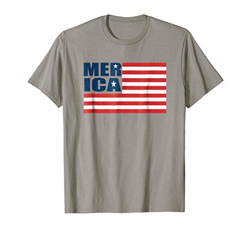 Merica American Flag 4th of July Patriotic t shirt for men ()