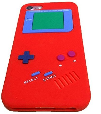 iPhone 7 Case,iPhone 8 Case,Retro 3D Game Boy Gameboy Design Style Soft Silicone Cover Case For Apple iPhone 7/8 4.7 inch+ Free Cleaning Cloth As a ...