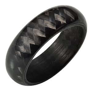 Willis Judd Mens New Solid Carbon Fiber Ring In Black Velvet Ring Box Size 10