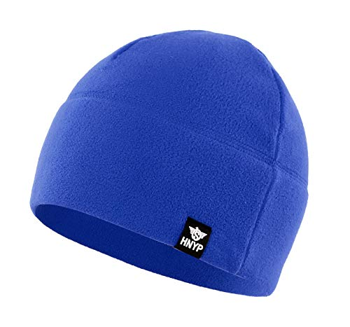 Home Prefer Winter Outdoor Skull Cap Simple Solid Daily Watch Hat Fleece Beanie Cap for Men, Blue ()