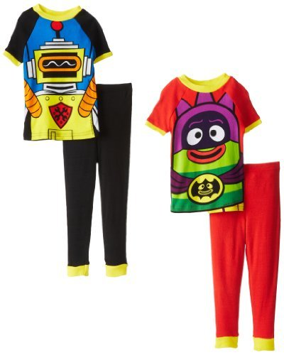 Yo Gabba Gabba Little Boys' Costume 4-Piece Cotton Pajama Se