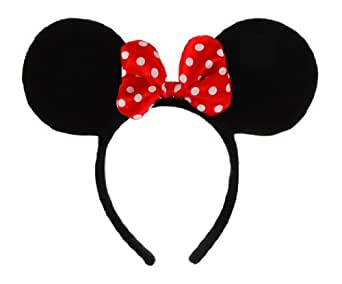 Elope Disney Minnie Mouse Costume Ears Headband with Bow