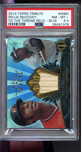 2014 Topps Tribute To The Throne Willie McCovey Bat Game-Used Graded Card PSA - Baseball Slabbed Rookie Cards from Sports Memorabilia