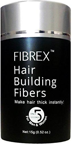 FIBREX Hair Building Thickening Fibers Loss Concealer Dark Brown 15g 0.52oz by Fibrex