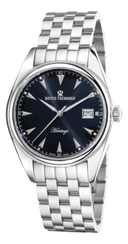 Revue Thommen Men's 21010-2137 Heritage Analog Display Swiss Automatic Silver Watch