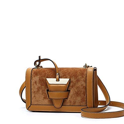 Portable Bag Package Shoulder Diagonale Carré Printemps à Brown Sacs Petit Sac Sac Womens main bandoulière Nouveau à nZqcYwv70