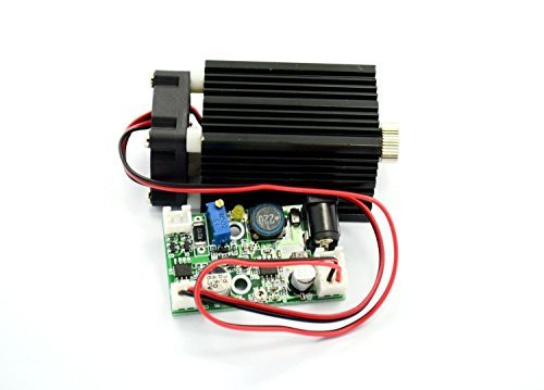 NDB7875 Diode Laser 2W 450nm 2000mw Focusable Blue Cross Laser Module TTL w/Driver out & 12V Adapter & Fan Cooling by sunshine-electronics (Image #3)