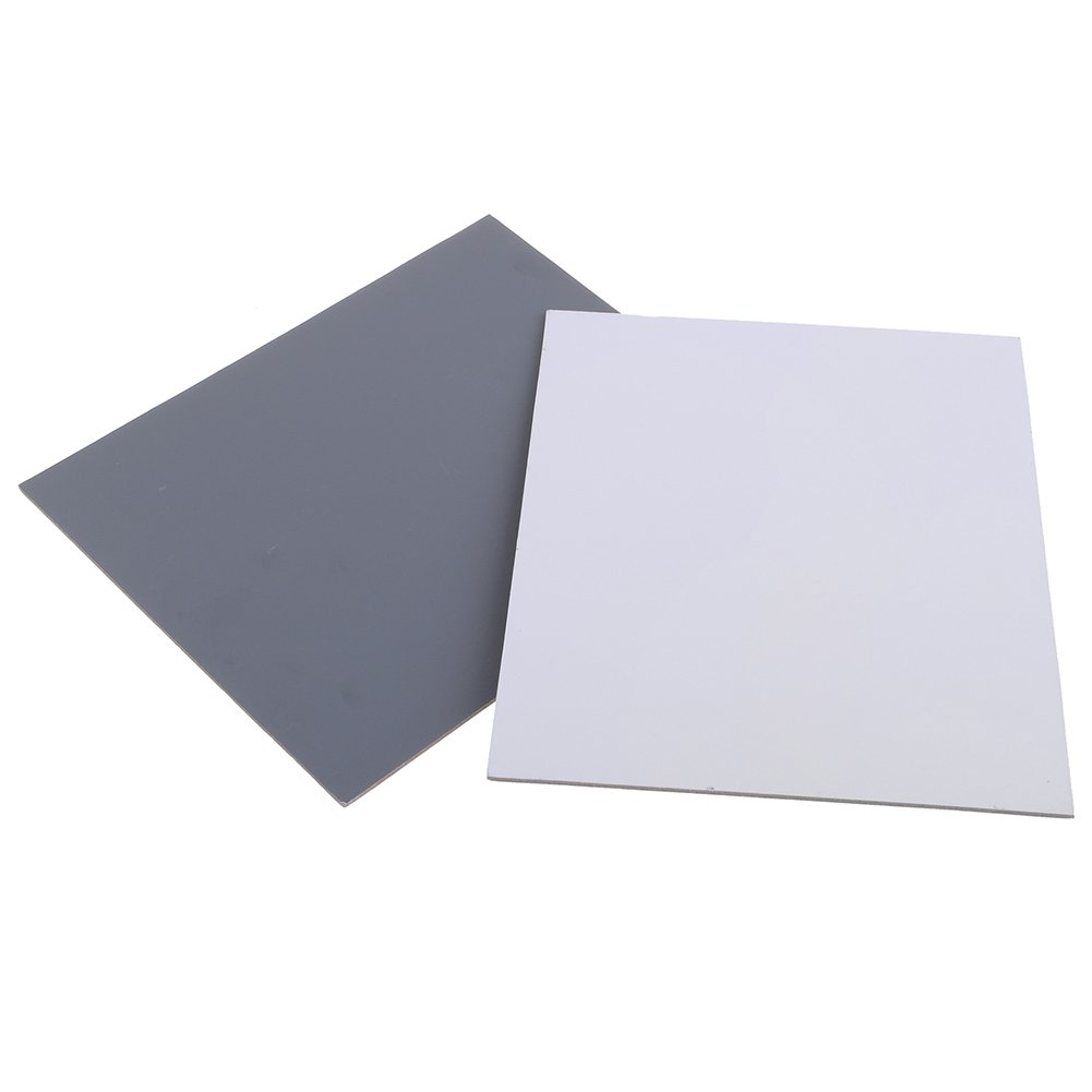Neewer Large Size 2 Card Set 8'' x 10'' -White Balance/Exposure Card 18% Gray Card Set for Digital and Film Photography