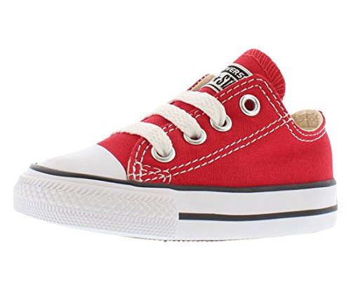 Converse Unisex-Child Chuck Taylor All Star  Low Top Sneaker, red, 7 M US Toddler (All Star Converse For Baby Boy)