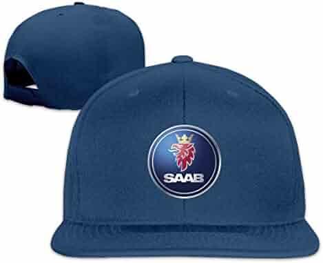dc93ab7b6d786 Censu General Motors Saab Logo Customized Cool Flat Baseball Cap for Men  Women