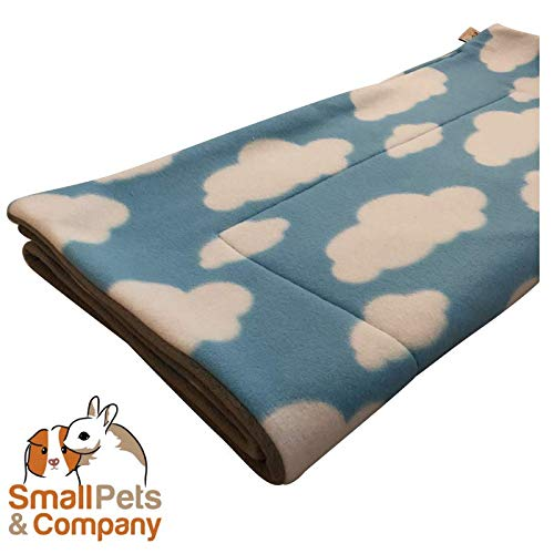 ny Guinea Pig Fleece Cage Liner |Fleece Guinea Pig Bedding |Midwest, C&C, Corner Pad (Midwest, Clouds on Blue) ()