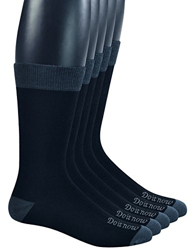 Yomandamor Men's Bamboo Breathable Dress Crew Socks with Seamless Toe,5 Pairs L Size(Sock (Bamboo Dress Socks)