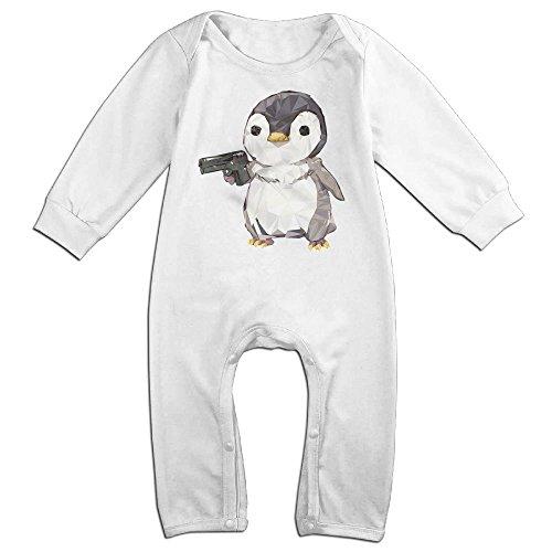 Boy & Girl Infants Cubic Penguin Power Long Sleeve Climb Romper 18 Months (Girl Yankee Player Costume)