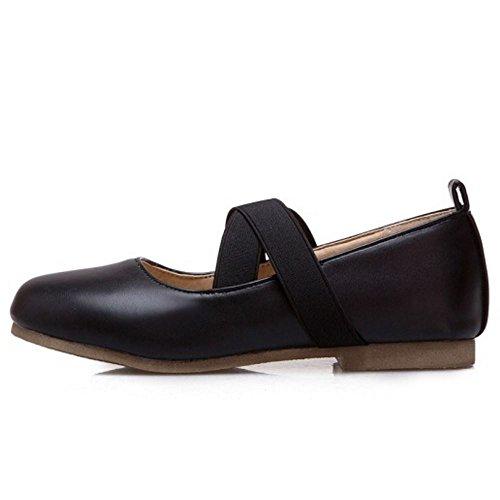 Melady Elastic black 2 Pumps Comfort Strap Flat Donna ffSZ1wq7