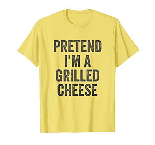 Lazy Halloween Costume Shirt Pretend I'm A Grilled Cheese T-Shirt -