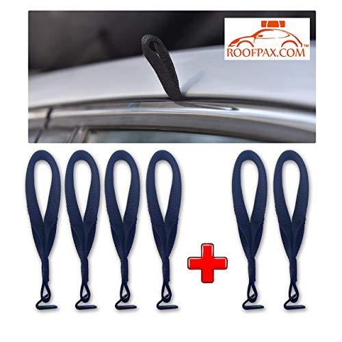 RoofPax - Roof Top Cargo Carrier Hooks for Securing Car Top Luggage. NO More Straps Inside CAR, Strong, 100% Waterproof. Attached to Car Door Frame for: Car Roof Bags/Kayak/SAP/Ski.!