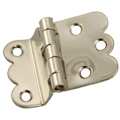 Hoosier Cabinet Type - I-37N NAPANEE OFFSET NICKEL CABINET HINGE - 2 PC/PACK + FREE BONUS (SKELETON KEY BADGE)