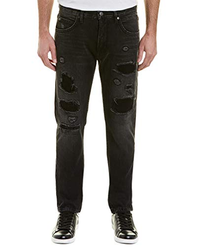 Helmut Lang Mens - Helmut Lang Men's MR 87 Destroyed Denim Jeans, Black, 34