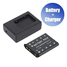 Battpit™ Battpit™ New Digital Camera Battery + Charger Replacement for Fujifilm NP-45A (800 mAh) (Ship from Canada)