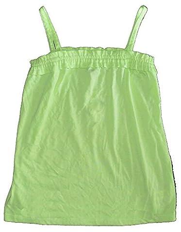 Gap Kids Girls Lime Green Ruffle Cami Tank Top Large 10 - Gap Girls Jacket