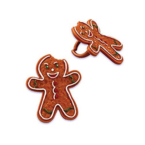 Oasis Supply Gingerbread Man Bendi Cupcake/Cake Decorating Rings, 1 1/2-Inch, Assorted, Set of 12