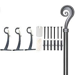 Deco Essential Flate 19mm Extendable Curtain Rod/Drapery Rod