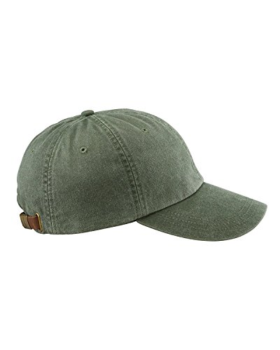 Adams 6-Panel Low-Profile Washed Pigment-Dyed Cap (AD969) Spruce Green, OS ()
