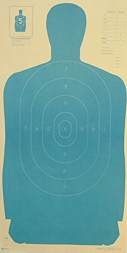 (Police Standard Silhouette Target - Blue Rendition - Official NRA Target B-27 23