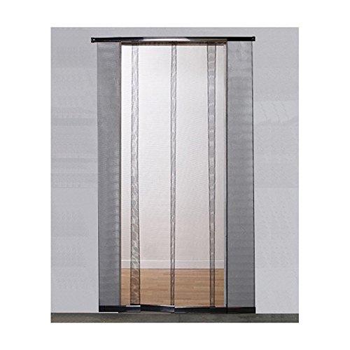 Moustiquaire à Bandes Porte - H220 cm x L95 cm - Toile Polyester Noire VOLET-MOUSTIQUAIRE.COM