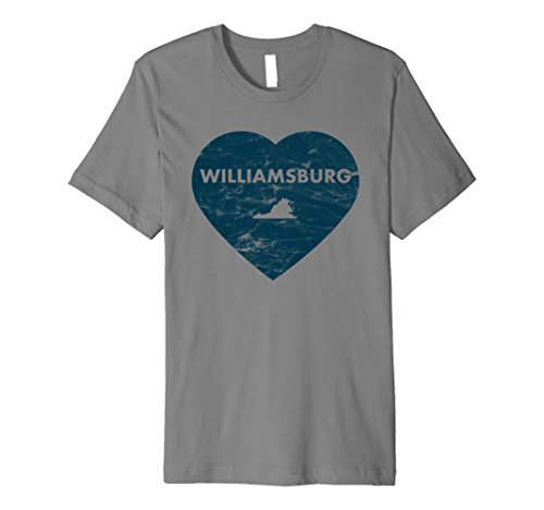 Williamsburg Virginia Heart Premium Retro - Williamsburg Premium