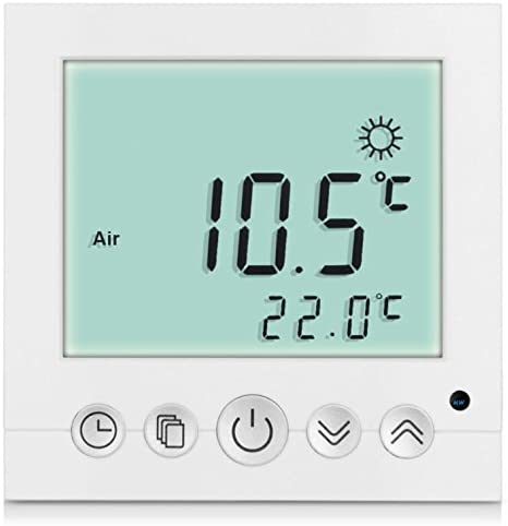 SM-PC® Digital Room Thermostat Floor Heating Panel Wall Heater LED White # A31