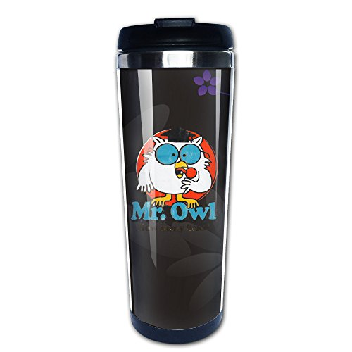 WILLIE Mr. Owl Coffee Mug Travel Mug Vacuum Cup Insulated Mug Stainless Steel Mug For Home School Gym Excise Office And Outdoor (Tootsie Roll Owl Costume)