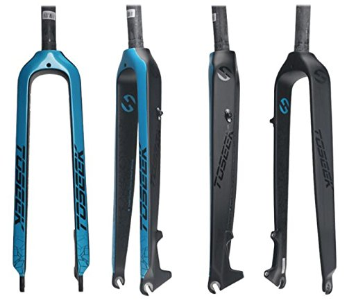 TOSEEKフルカーボンマウンテンバイクフォーク ストレートコラム ディスクブレーキ B078W159FD 29インチ|ブルー ブルー 29インチ