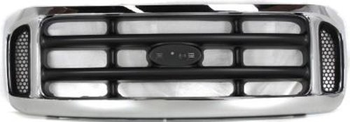 F450 Super Duty Grille Assembly - CPP Chrome Shell w/Gray Insert Grille Assembly for 1999-2004 Ford F-250 SD, F-350
