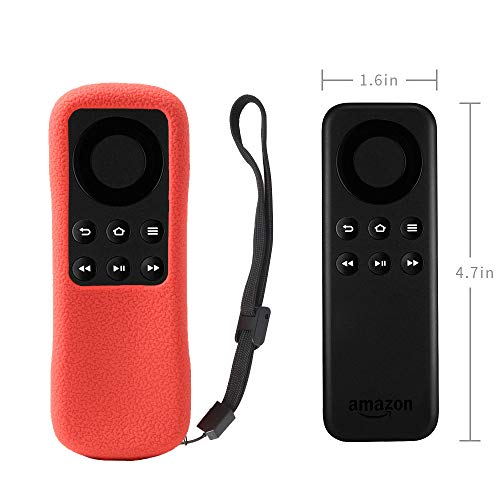 Fire TV Stick Non-Alexa Voice Remote Case SIKAI Silicone Protective Cover for Fire TV Stick Basic Edition Remote Anti-Slip Shockproof Washable Anti-Lost with Remote Loop (Red)