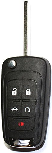 Replacement Key Switch (NEW For Chevy GM Replacement Switchblade Flip Key 5 Buttons Remote Fob 13504199)