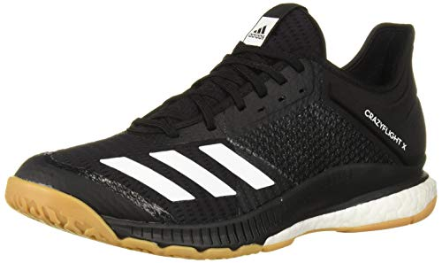 adidas Women's Crazyflight X 3 Volleyball Shoe, Black/White/Gum, 9.5 M US