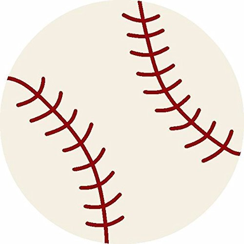 Furnishmyplace Baseball Kids Rug Round
