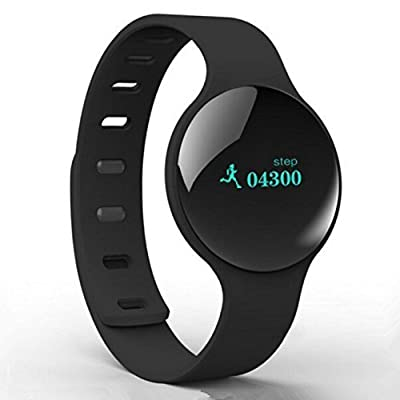 The Bestdeal Bluetooth 4.0 V Smart Bracelet Watch Wireless Silicone Sports Fitness Tracker Wrist Watch Compatible for Android 4.3 or Above Android Smartphones,and IOS 7.0 or Above Apple iPhone with Giftbox Packaging