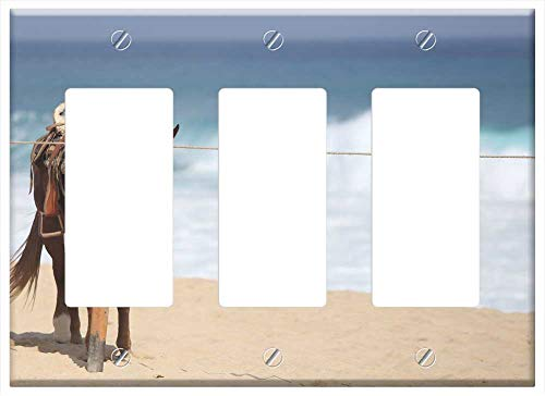 Switch Plate Triple Rocker/GFCI - Horse Beach Cabo Landscape Vacation Sun Waves
