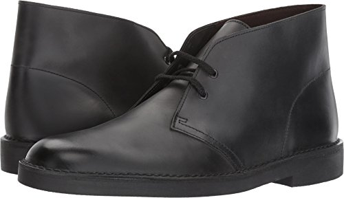 (CLARKS Men's Bushacre 2 Chukka Boot Black Waxy Leather 11.5 Medium US)