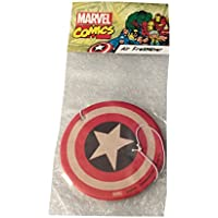Marvel Comics Captain America Shield Vanilla Scent Auto Office Air Freshener Purifier
